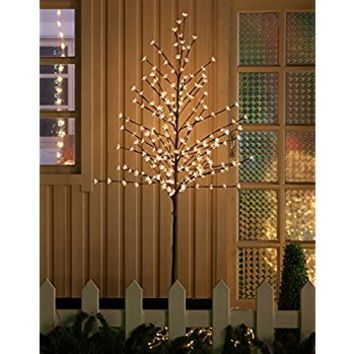 WED 6 Feet 208 LED Cherry Blossom Tree Lights with Flexible Branches, Indoor and Outdoor Decoration, Warm White Lights