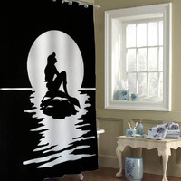 mermaid silhouette custom shower curtains that will make your bathroom adorable
