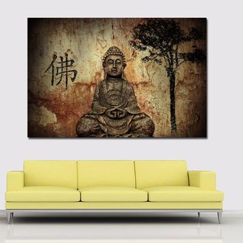 HD Prints Vintage Painting Chinese Buddha On Canvas Prints Home Decoration Wall Art Paintings For Living Room,Bedroom