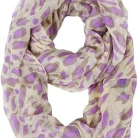 Jade Animal Print Loop Scarf