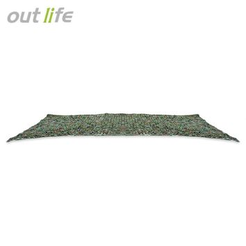 Outlife 5M Woodland Military Car Tent Camouflage Net Hunting Camping Cover Sunshade Mesh Net Sun Shelter Car Cover