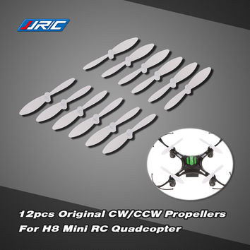 ABS 12 Pcs Original JJRC H8 Professional White Mini CWCCW Propellers Prop Set for JJRC H8 Mini Quadcopter SM6