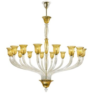 Cyan Design Vetrai Murano Style Glass 16-Light  Chandelier