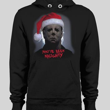 "MOVIE SERIAL KILLER MICHAEL MYERS ""YOU'VE BEEN NAUGHTY"" CHRISTMAS HOODIE"