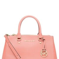 MICHAEL Michael Kors 'Small Sutton' Saffiano Leather Satchel