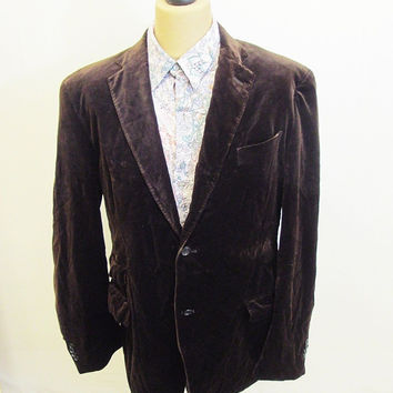 Retro Velvet Brown Boho Dandy Chap Blazer Jacket M/L #4