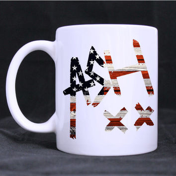 ashton irwin design twin side  white mug