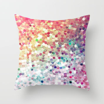 sequin pretty; Throw Pillow by Pink Berry Patterns