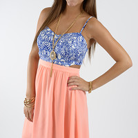 Sweet Heat Dress, Pink/Blue