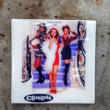 Single Tile Drink Coaster Clueless 90s Movie Stacy Dash Alicia Silverstone Movie Tile