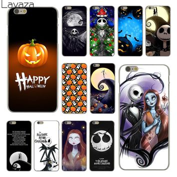 Lavaza Nightmare Before Christmas alloween Hard Clear Skin Cover Case for Apple iPhone 6 6S 6 S Back Phone Case Coque Shell