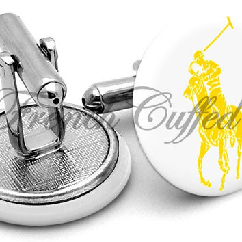 Ralph Lauren Polo Yellow Cufflinks