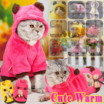 Two-Sided Cat Patterned Coat