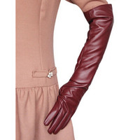 Ladies Opera Evening Party Glove Faux Leather PU Over Elbow Long Gloves