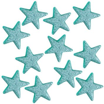 Pearly Teal Star Sugars