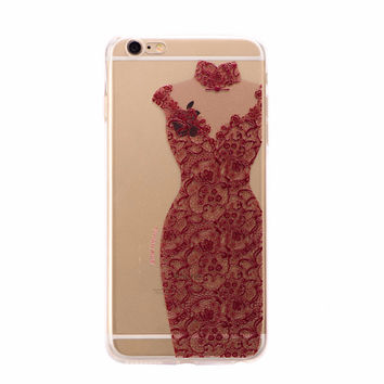 Pretty Red Lace Dress Case for iPhone
