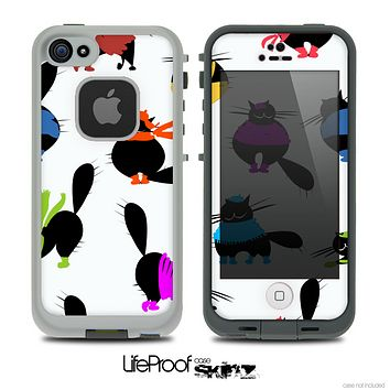 The Cute Fashion Cats Skin for the iPhone 4 or 5 LifeProof Case