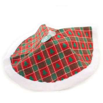 Christmas PLAID MINI TREE SKIRT Polyester Spot Clean Only H5300 Trees