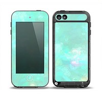 The Bright Teal WaterColor Panel Skin for the iPod Touch 5th Generation frē LifeProof Case