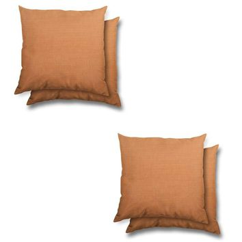 Stratford Home Indoor/ Outdoor Sunbrella Pillows Set (Tangerine)