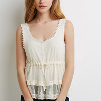 Crocheted Dot Mesh Top