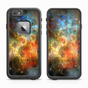 Blooming warm galaxy nebula Skin for the Apple iPhone LifeProof Fre Case