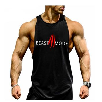 Beast Mode Tank Tops - Men's Novelty Sleeveless Top