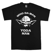 Who Da Man, Yoda Man T-shirt unisex adults