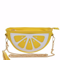 Lemon Slice Cross Body Bag