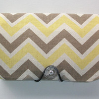 COUPON  Organizer - Holder - Keeper --  Sunny yellow gray Chevron Zig Zag