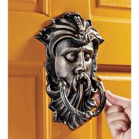 SheilaShrubs.com: Sutherland House Greenman Authentic Foundry Iron Door Knocker SP13088 by Design Toscano: Door Knockers