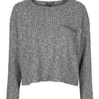 Slouchy Pocket top - Charcoal