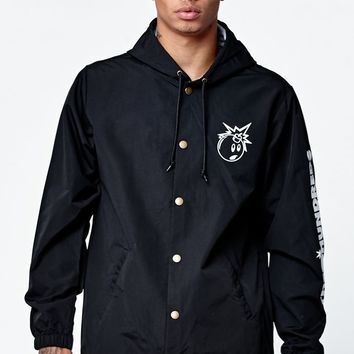 The Hundreds Adam Hooded Coach's Jacket - Mens Jacket - Black