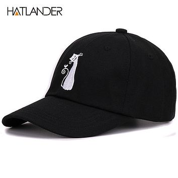 Boys baseball caps hip hop snap back polo drake dad hat cat sun golf cotton bones hat cap unisex