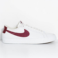 Nike SB Blazer Zoom Summit White & Red Canvas Skate Shoes | Zumiez