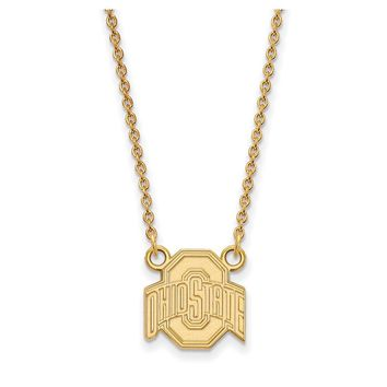 NCAA 14k Yellow Gold Ohio State Small Logo Pendant Necklace