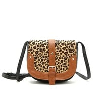 Fashion Ladies Cute Leopard Print Satchel Bag for Women