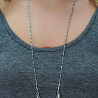 Mind Your Own Necklace - Silver