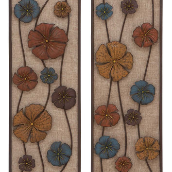 Metal Wall Panel In Urbane Finesse - Set Of 2