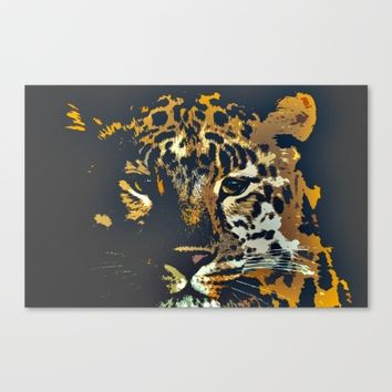 Leopard Canvas Print by Animilustration