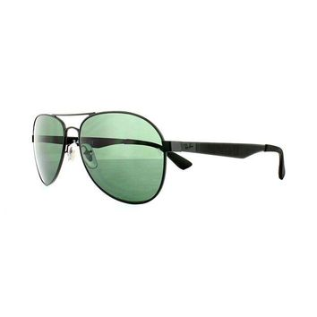 Kalete Ray-Ban Sunglasses 3549 006/71 Black Green G-15