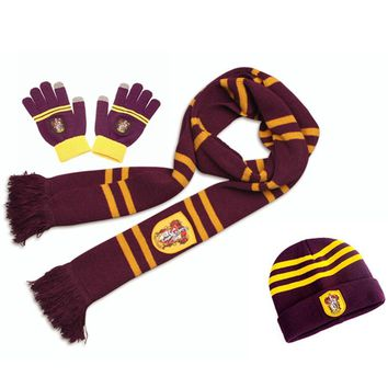 Harri Potter Scarf Scarves Hat Touch Gloves Gryffindor/Slytherin/Hufflepuff/Ravenclaw Scarves Hat Touch Gloves Harry's Scarf