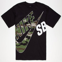 Nike Sb T&T Camo Mens T-Shirt Black  In Sizes