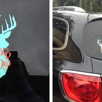 Monogrammed Deer Decal