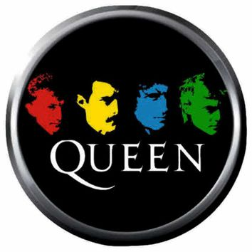 Colorful Freddie Mercury And Queen Band Members Rock And Roll Hall Of Fame Musicians 18MM - 20MM Fashion Snap Jewelry Snap Charm