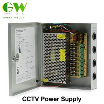 DC12V LED Lighting 9/18 Channel Output Centralized Vontrol Power Supply CCTV Power Supply
