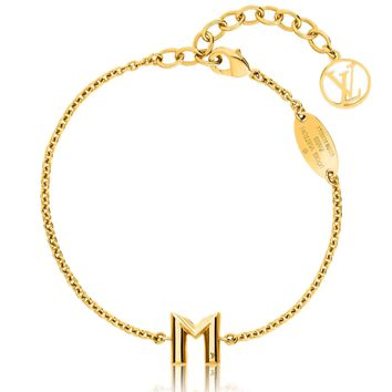 Free shipping-LV & ME Letter M Necklace