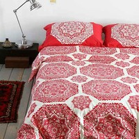 Magical Thinking Raja Medallion Duvet Cover- Red