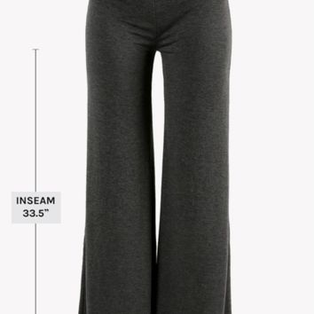 Solid Flared Palazzo Pants - Plus Size! 3 Colors!