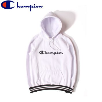 Autumn and winter tide brand Champion sweater men and women Hooded Hooded velvet couple coat school clothes